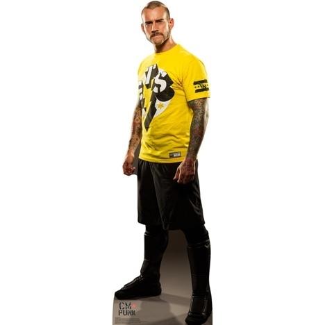 cm punk gts pappaufsteller wrestling fanshop wwe t shirt. Black Bedroom Furniture Sets. Home Design Ideas