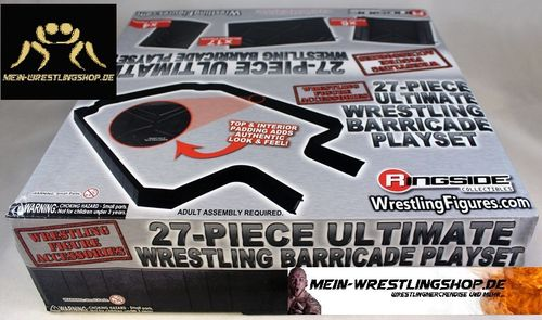 """27-Piece Ultimate Wrestling Barricade Playset"""