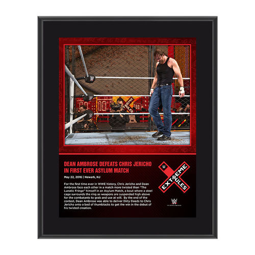 Dean Ambrose Extreme Rules 2016 10 x 13 Photo Collage Plaque