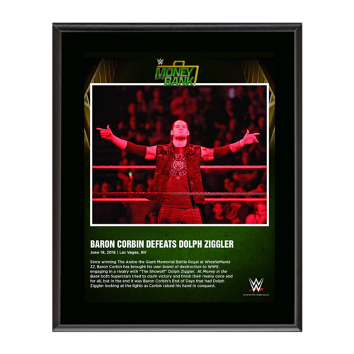 Baron Corbin Money In The Bank 2016 10 x 13 Photo Plaque