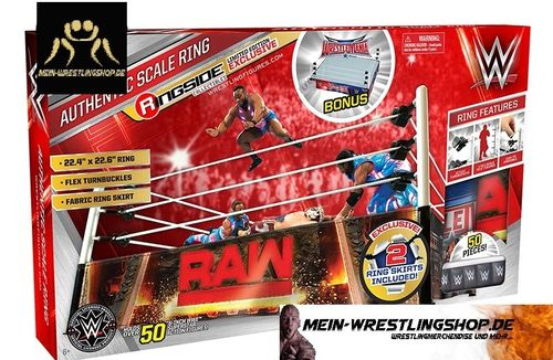 "WWE Authentic Scale Wrestling Ring"" mit Raw & WrestleMania 32 Ring Schürzen"