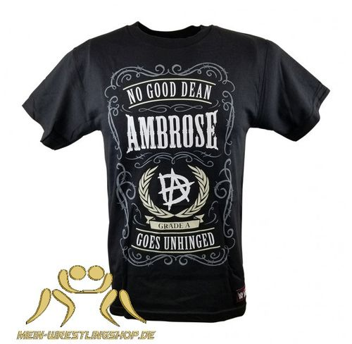 "Dean Ambrose ""No Good Dean Goes Unhinged"" Kinder Authentic T-Shirt"