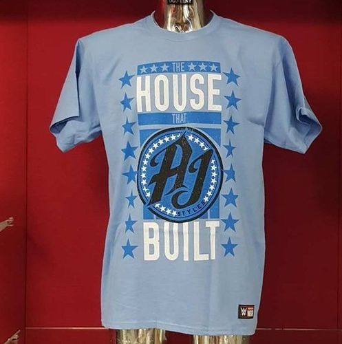 "AJ Styles ""The House That AJ Built"" Kinder Authentic T-Shirt"