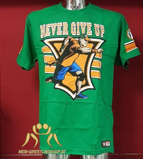 "John Cena ""15X"" Green Authentic T-Shirt"