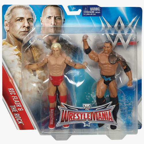 Ric Flair & The Rock Figuren Set - WWE Battle Packs WrestleMania 32 Exclusive