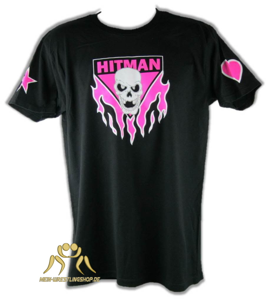 Bret Hart Ring Series Pink Skull Mens T-shirt