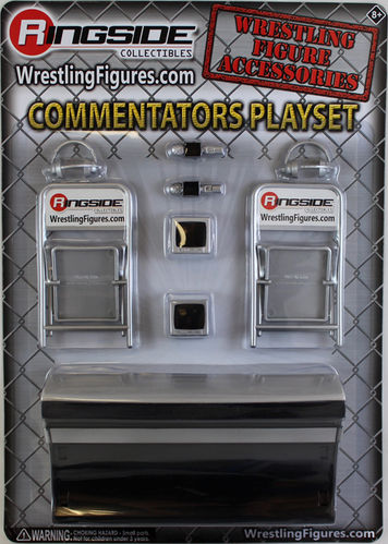 """Commentators Playset (Silver)"""