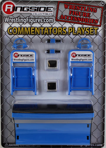 """Commentators Playset (Blue)"""