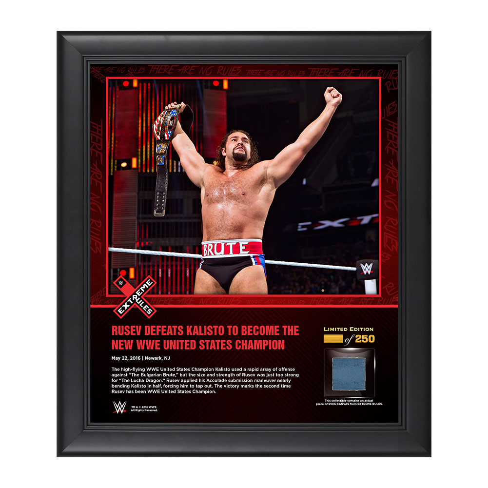 Rusev Extreme Rules 2016 15 x 17 Framed Ring Canvas Photo Collage