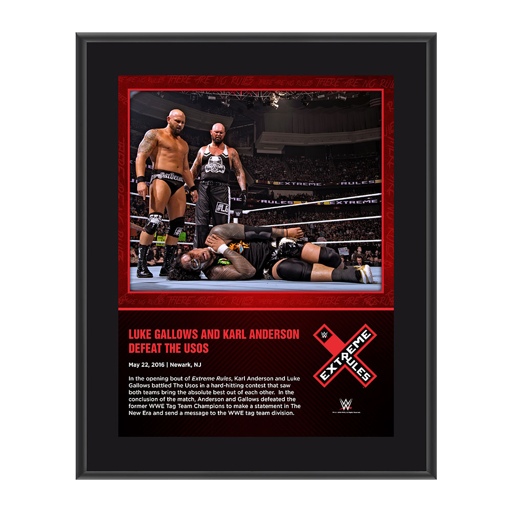 Gallows & Anderson Extreme Rules 2016 10 x 13 Photo Collage Plaque
