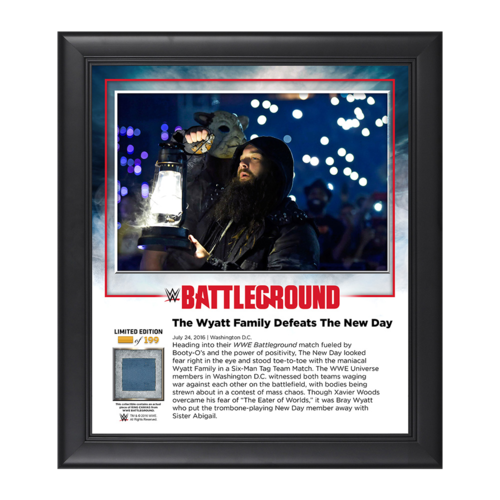 Wyatt Family Battleground 2016 15 x 17 Commemorative Framed Plaque w/ Ring Canvas