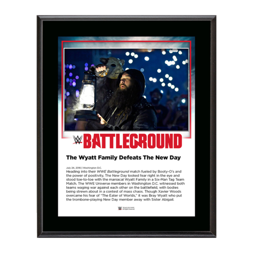 Wyatt Family Battleground 2016 10 x 13 Commemorative Photo Plaque