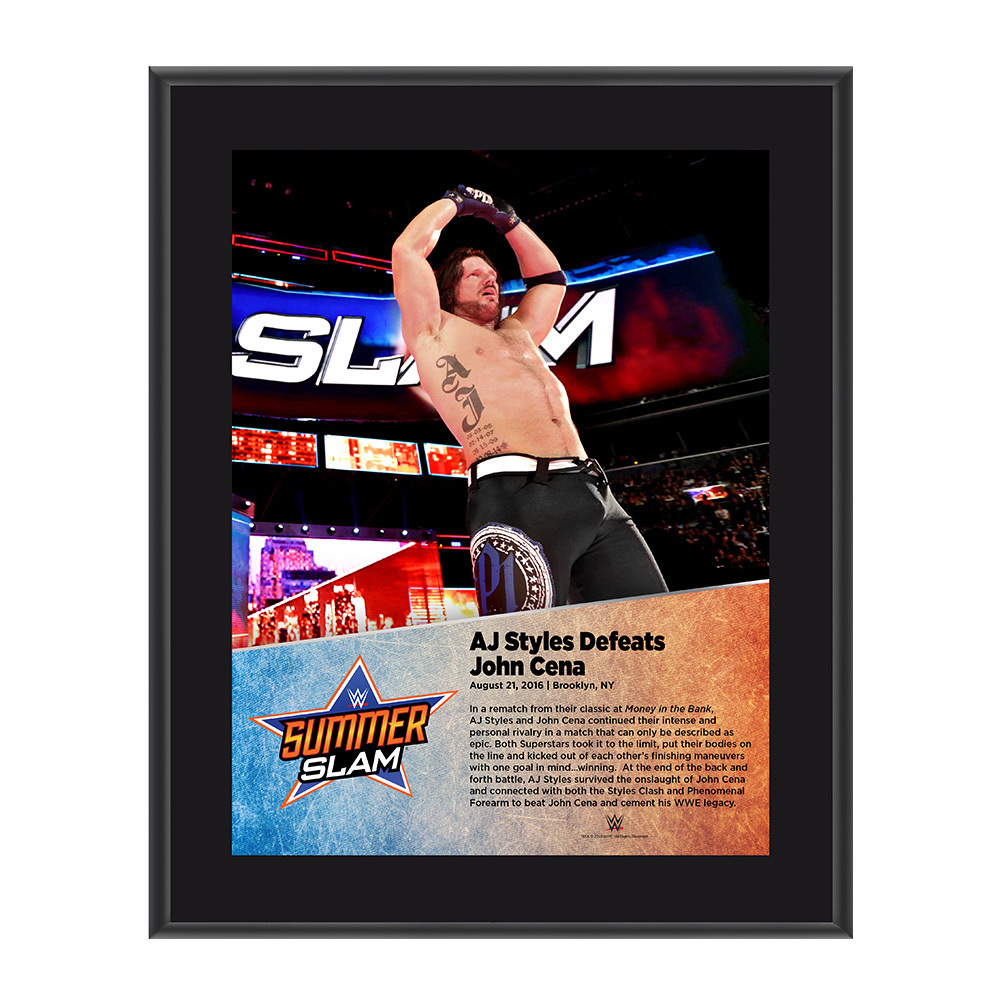 AJ Styles SummerSlam 2016 10 x 13 Photo Plaque