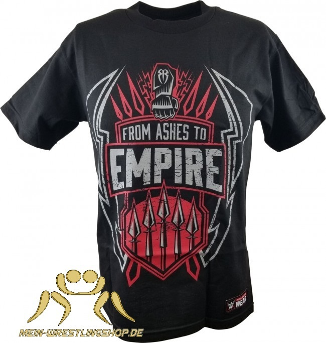 "Roman Reigns ""From Ashes to Empire"" Kinder Authentic T-Shirt"