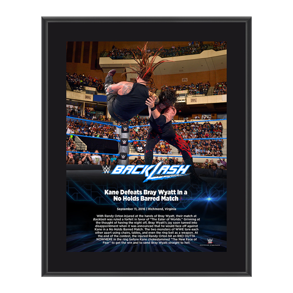 Kane Backlash 2016 10 x 13 Photo Plaque
