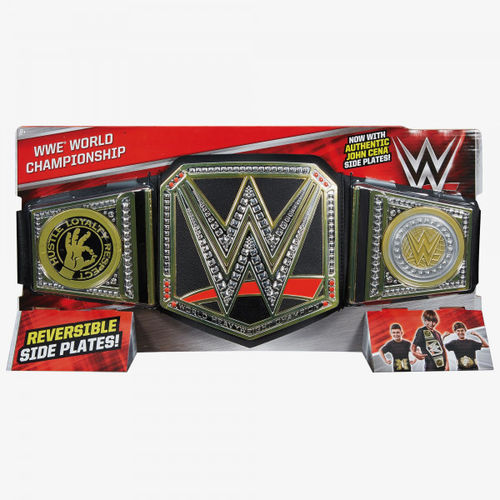 WWE WORLD CHAMPIONSHIP (WITH JOHN CENA SIDEPLATES) TOY BELT