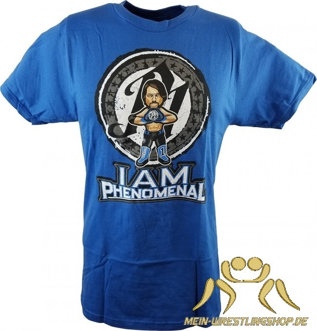"WWE x NERDS AJ Styles ""Phenomenal"" Cartoon T-Shirt"