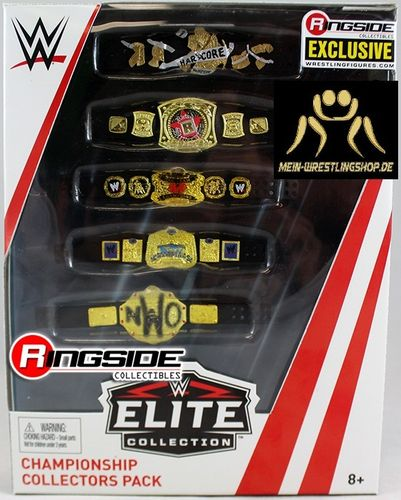 WWE Elite 5 Belt Championship Collectors Pack - Ringside Exclusive