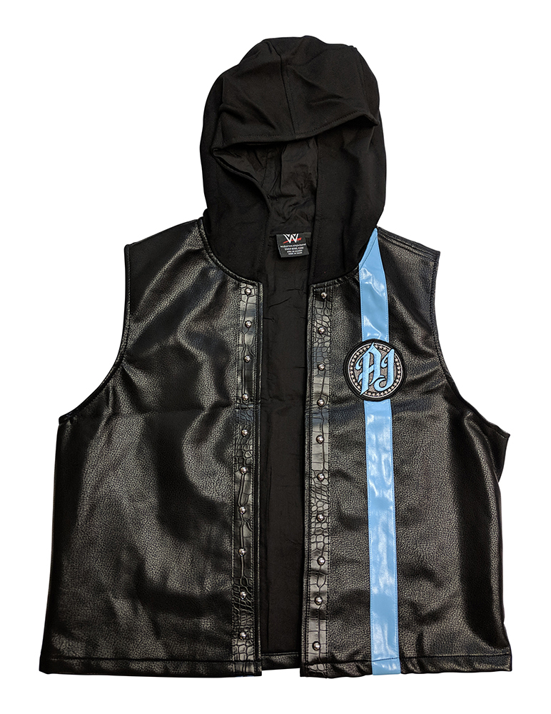 "AJ Styles ""P1"" Black/Carolina Blue Authentic Vest"