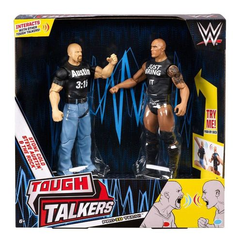 WWE Tough Talkers Action Figuren - Stone Cold Steve Austin & The Rock