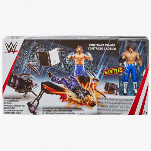 WWE CONTRACT CHAOS PLAYSET (Mit AJ STYLES FIGUR)