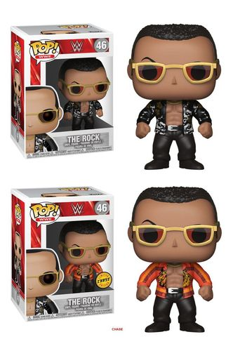 WWE Wrestling POP! WWE Vinyl Figuren The Rock (Old School) 9 cm Doppelpack