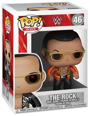 WWE Wrestling POP! WWE Vinyl Figuren The Rock (Old School) 9 cm Classic