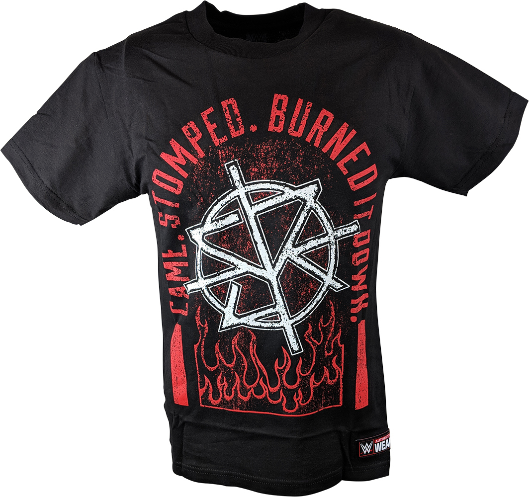 Seth Rollins Came. Stomped. Burned it Down Frauen Authentic T-Shirt