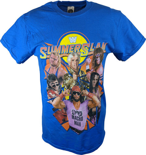WWE SUMMERSLAM LEGENDS MENS BLUE T-SHIRT