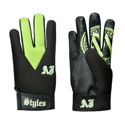 AJ Styles Green Replica Gloves