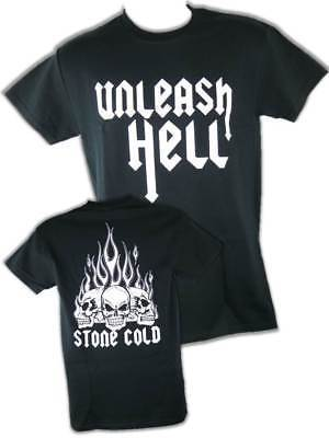 STONE COLD STEVE AUSTIN UNLEASH HELL MENS T-SHIRT