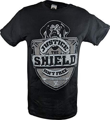 WWE THE SHIELD JUSTICE ISN'T FREE REIGNS AMBROSE ROLLINS T-Shirt