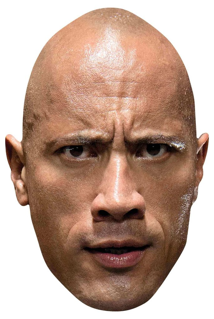The Rock WWE Maske Pappe