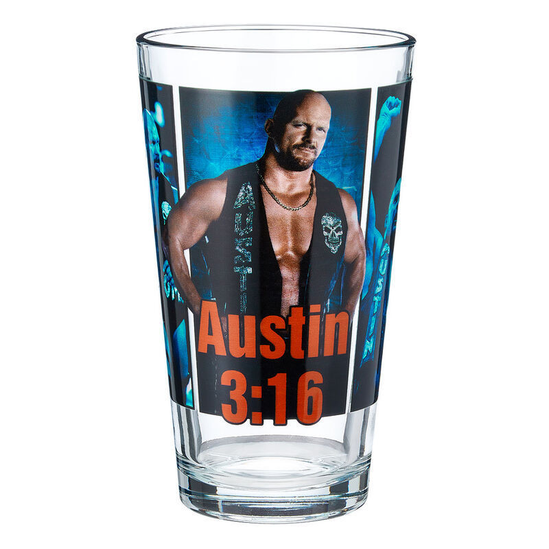 Stone Cold Steve Austin Superstar Pint Glas