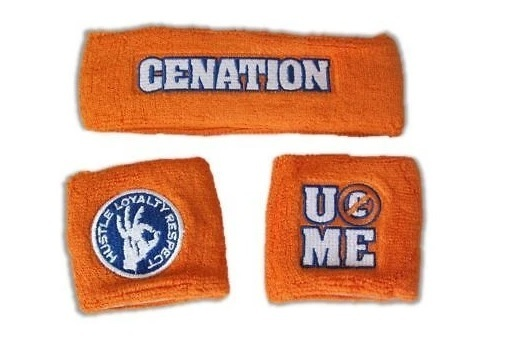 WWE JOHN CENA ORANGE CENATION U CAN'T SEE ME Schweissband Set