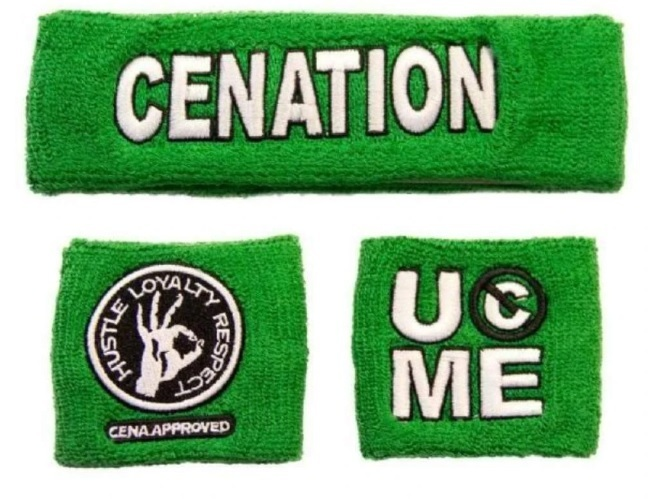 WWE John Cena Salute The Cenation Schweissband Set