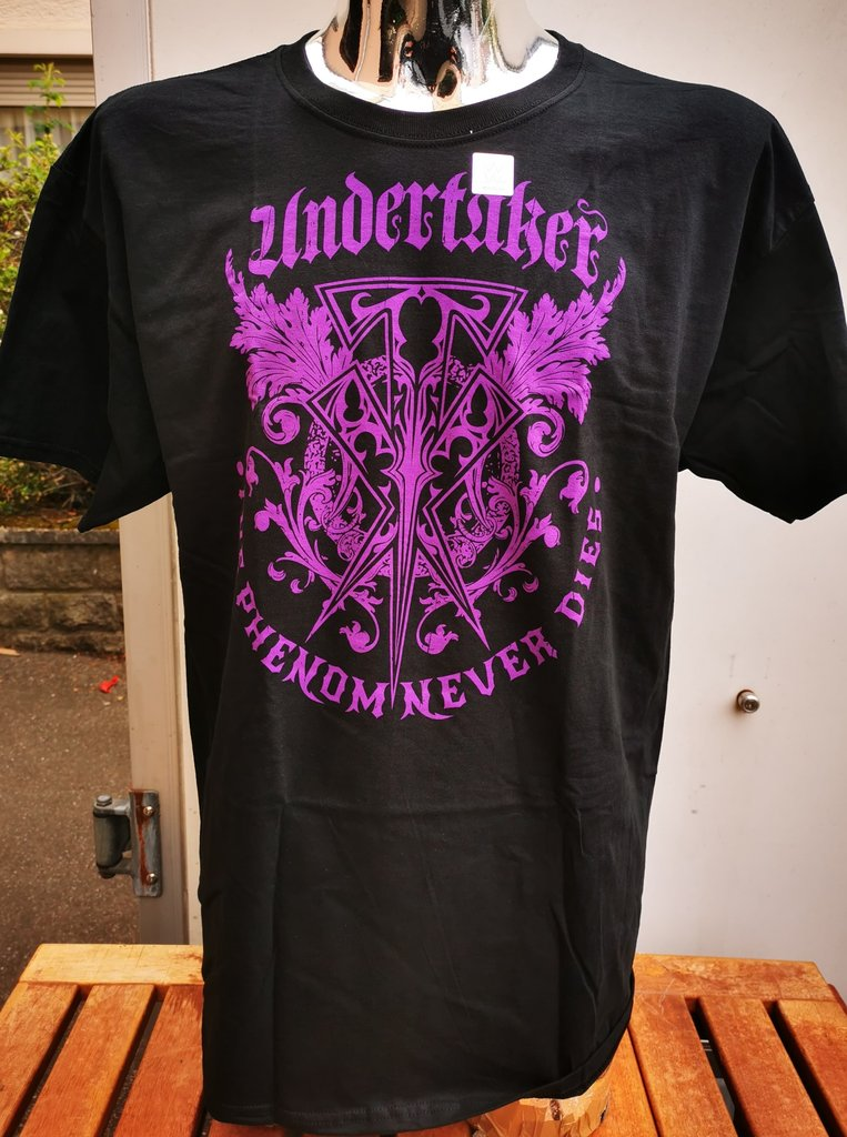 "WWE The Undertaker ""The Phenom Never Dies"" Authentic T-Shirt"
