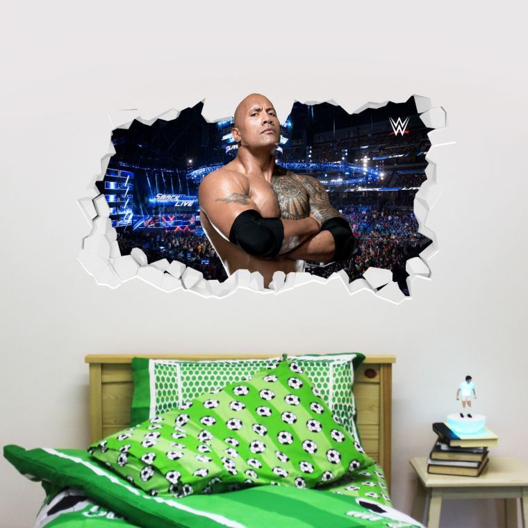 WWE - The Rock Broken Wall Sticker