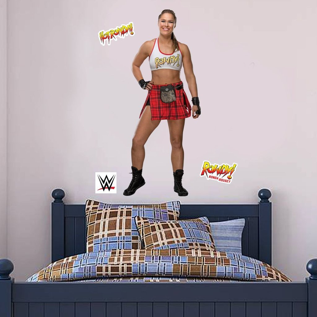 WWE - Ronda Rousey Wrestler Decal 2 + Bonus Wall Sticker Set